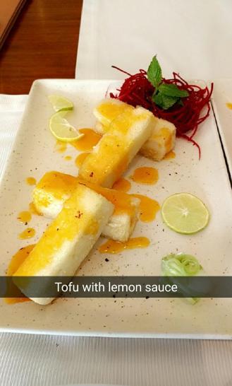 Tofu With Lemon Sauce